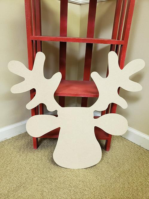 Wood Reindeer Blank Cut Out DIY