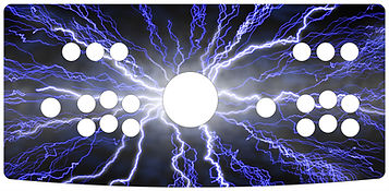 Blue Lightning 2-Player Control Panel Art