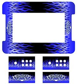 Blue Flames Cocktail Art