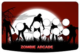 Zombie Arcade 1-Player Control Panel Art