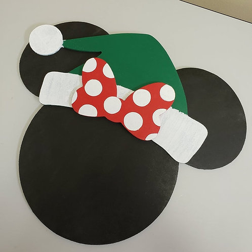 Santa Mickey and Minnie