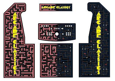 Red Blue Maze 2-Player Upright Arcade Art