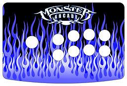 Blue Flames 1-Player Control Panel Art