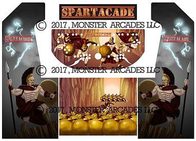 Spartacade Arcade Art
