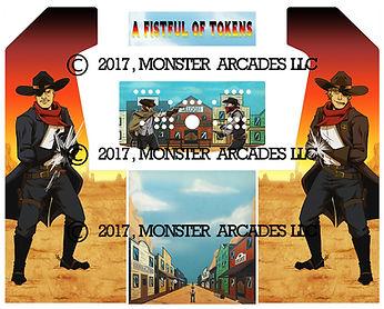 Gunfighter 2-Player Upright Arcade Art