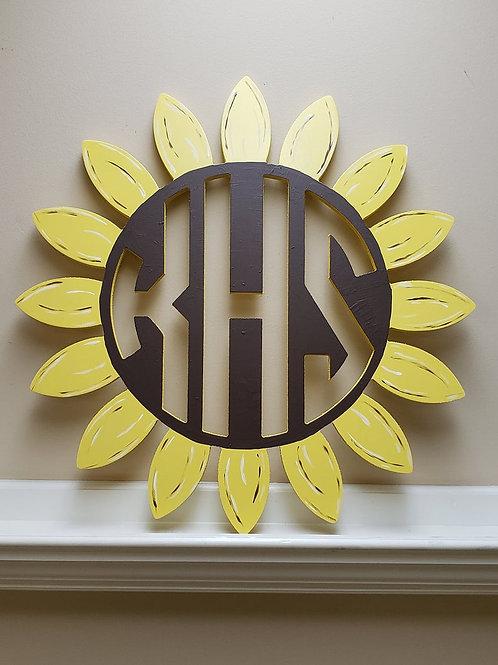 Monogram Sunflower