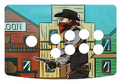 Gunfighter 2 1-Player Control Panel Art