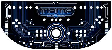 Blue Grid Control Panel Art