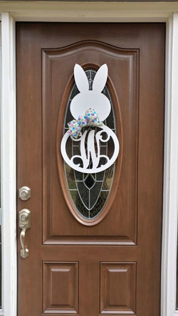 bunny W on door