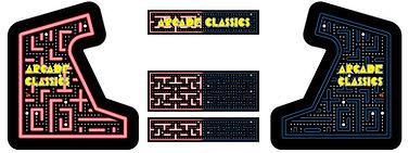 Red Vs. Blue Maze Arcade Art