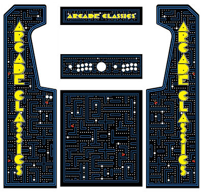 Blue Maze Arcade Art