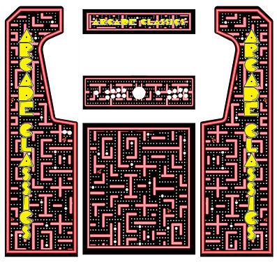 Red Maze Arcade Art