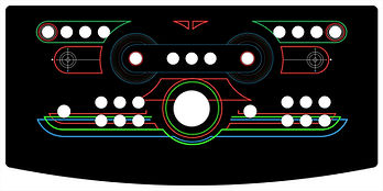 Retro Grid 2-Player Control Panel