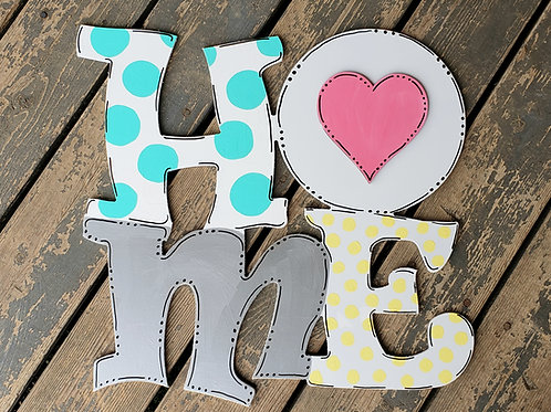Home Sign Door Hanger with Interchangeable Cut Out Pieces