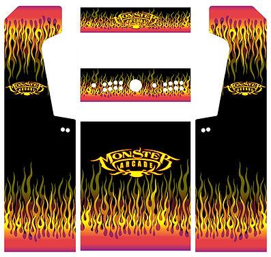 Red Flames Arcade Art