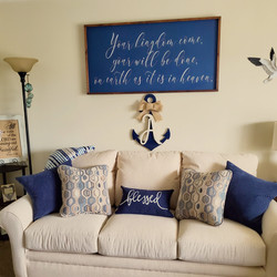 anchor in nautical living room