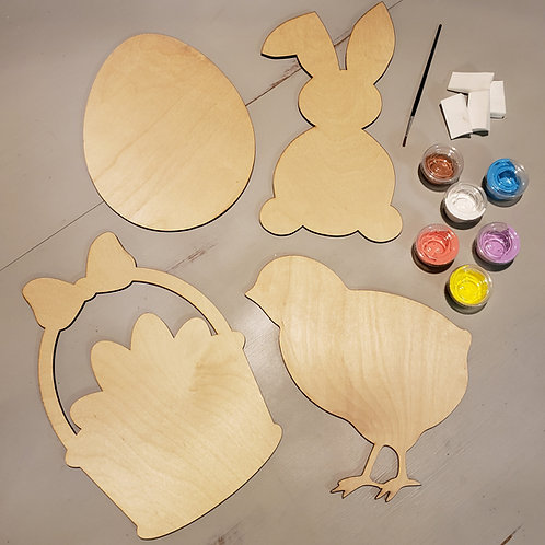 Kids Easter Craft Kit and Paint Set