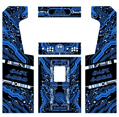 Blue Grid Arcade Art