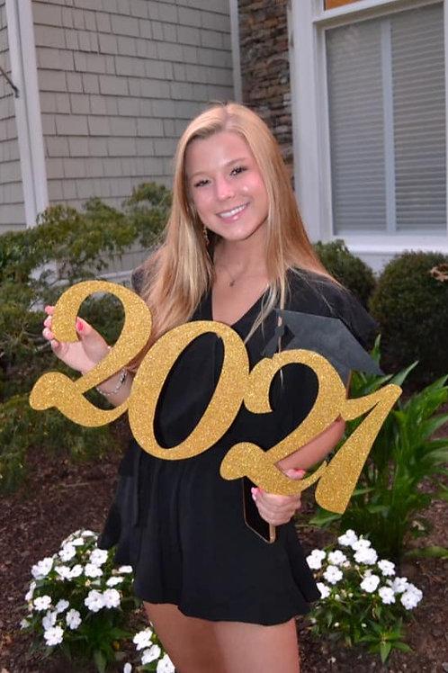 2021 Graduate Photo Prop Wood Sign Graduation