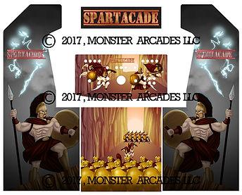 Spartacade 2-Player Upright Arcade Art
