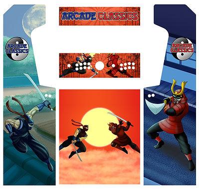 Ninja Vs. Samurai Arcade Art