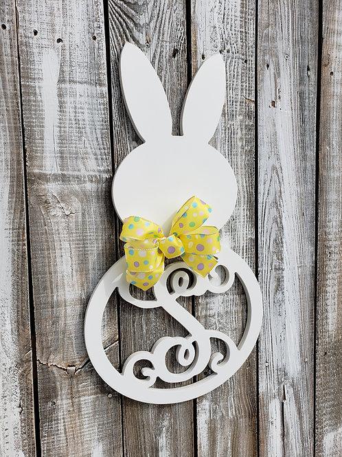 Easter Bunny Initial Door Hanger