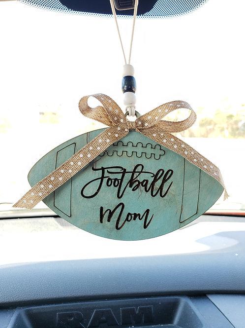 Football Mom Car Charm Key Ring Mom Gift