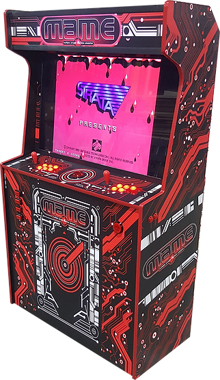 Red 2-Player Arcade Cabinet