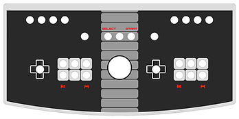 Classic Console 2-Player Control Panel