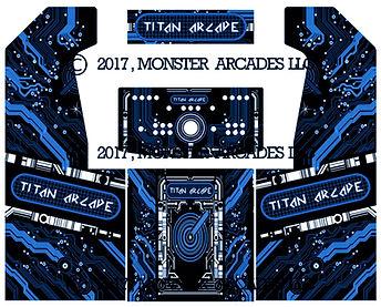 Blue Souce Code2-Player Upright Arcade Art