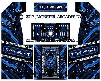Blue Grid 2-Player Upright Arcade Art
