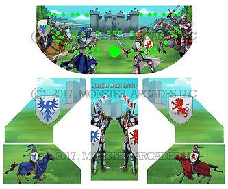 Red Vs. Blue Knights Arcade Art