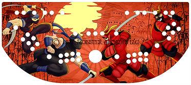 Ninja Vs. Samurai Control Panel Art