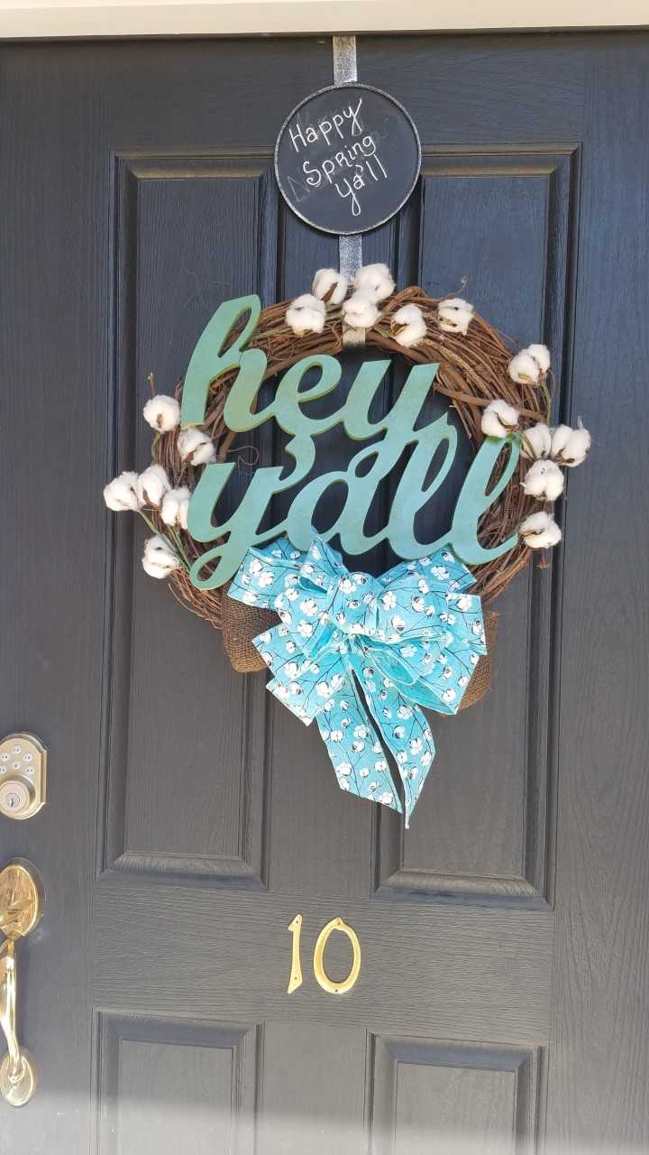 hey yall wreath