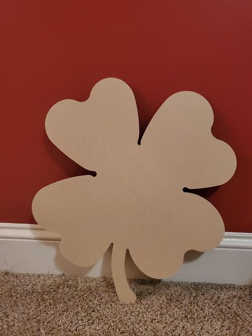Shamrock St. Patrick's Day Wood Cut Out DIY Craft