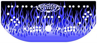 Blue Flames Control Panel Art