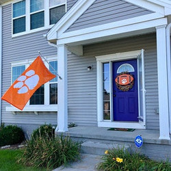 clemson football on blue house