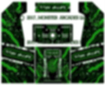 Green Grid 2-Player Upright Arcade Art