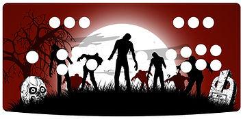 Zombie Arcade 2-Player Control Panel