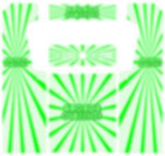 Green Sunbeam Arcade Art