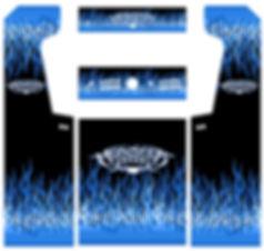 Blue Flames Arcade Art