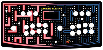 Red Blue Maze 2-Player Control Panel