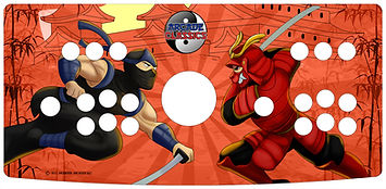Ninja Samurai 2-Player Control Panel Art