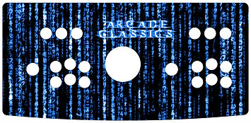 Blue Source Code 2-Player Control Panel Art
