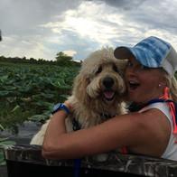 Hailey & Sadie on airboat