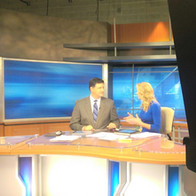 Anchoring the Evening Newscast