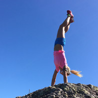 Handstand on a rock