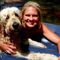Hailey & Sadie rafting down the river