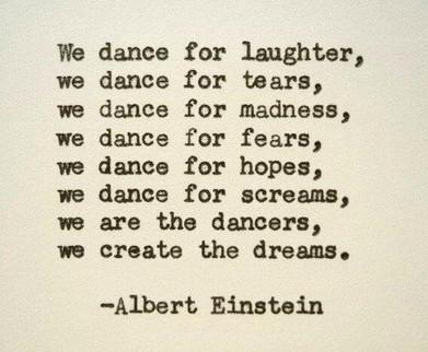 We dance..
