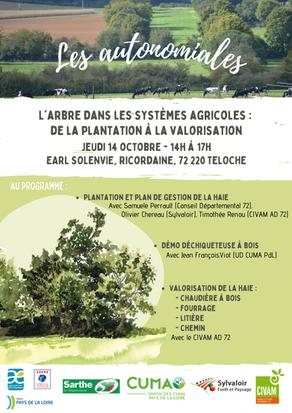 Autonomiales : L'arbre dans les systèmes agricoles, de la plantation à la valorisation